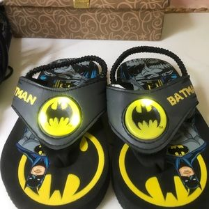 Batman light up sandals